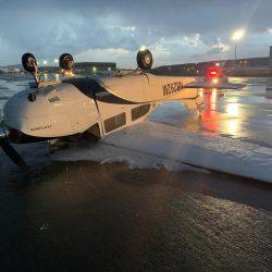 Granizada y fuertes vientos afectaron ayer el aeropuerto de Querétaro