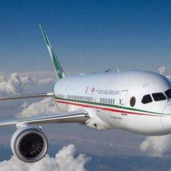 Ya viene volando a México el avión presidencial
