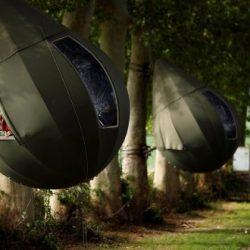 En Bélgica pasan el verano en cápsulas en los árboles
