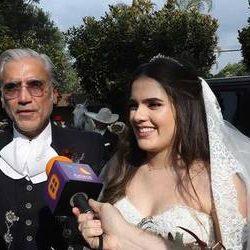 Se casa la hija de Alejandro Fernández